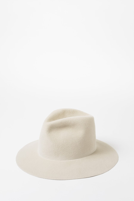 Clyde Alabaster Angora Pinch Hat