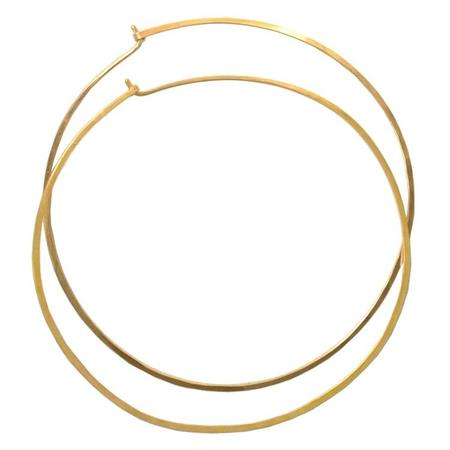 AOKO SU Oversized Hammered Hoop Earrings