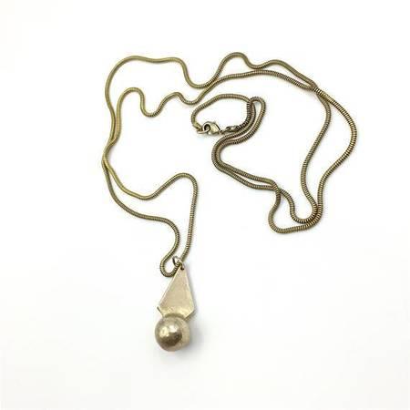 Knuckle Kiss Sun Beam Necklace - Bronze/brass
