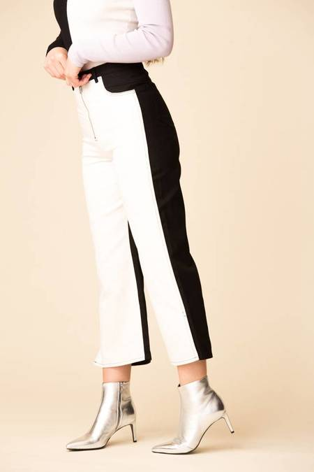 Veda Eclipse Jean - White/Black