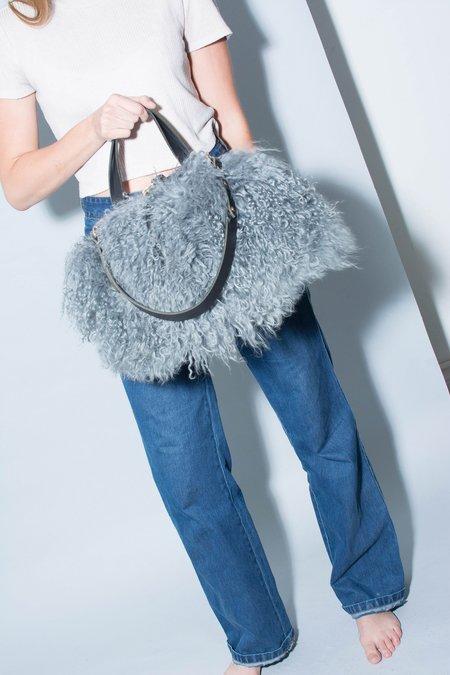 Eleven Thirty Shop Katie XL Shoulder Bag - Mongolian Sheepskin Blue