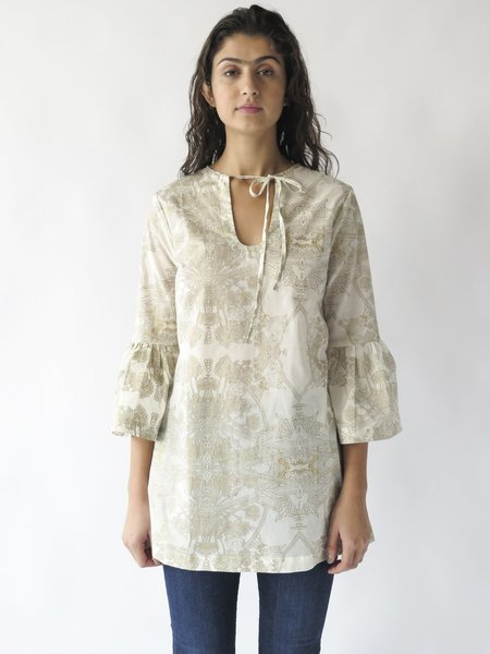 Erica Tanov temple tunic - natural/gold