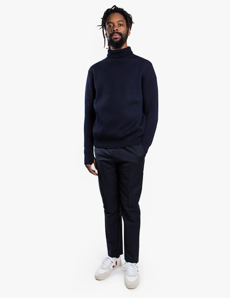 Andersen-Andersen Navy Turtleneck Symmetrical - Navy Blue