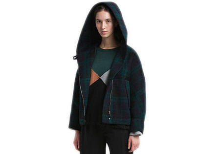 REALITY STUDIO MANNI FOREST CHECKS JACKET