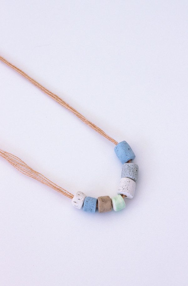 Gamma Folk Beaded Necklace