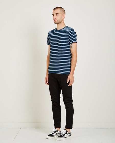 321 CREW NECK STRIPE TEE - ECRU
