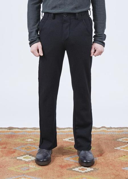 Hannes Roether Residency Wool Trust Pant - Black