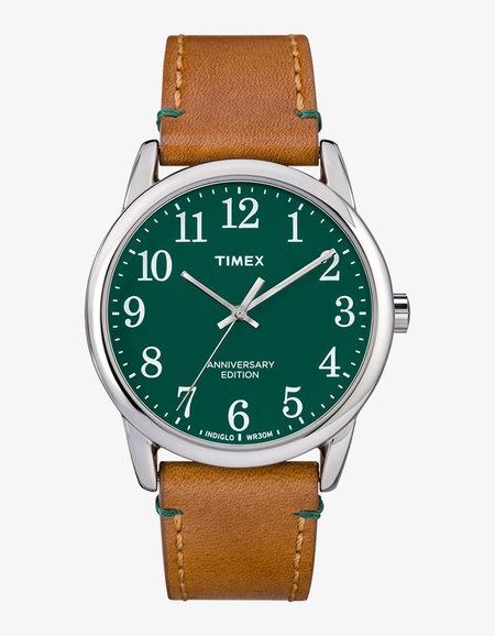 Timex Easy Reader Watch - Green/Tan