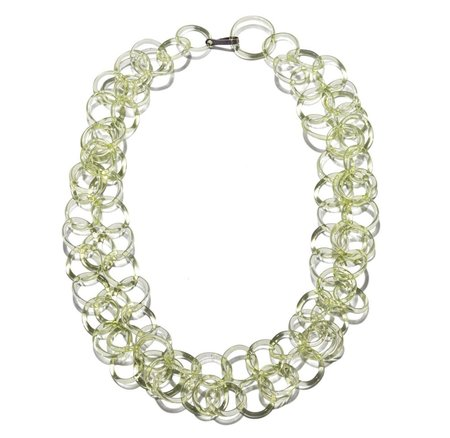 Jane D'Arensbourg Chain Mail Necklace - Lime