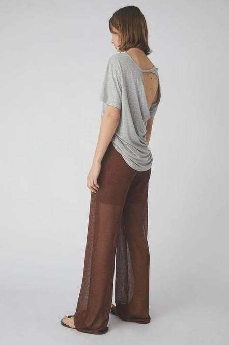 Kacey Devlin Temperate Metallic Trouser - BRASS