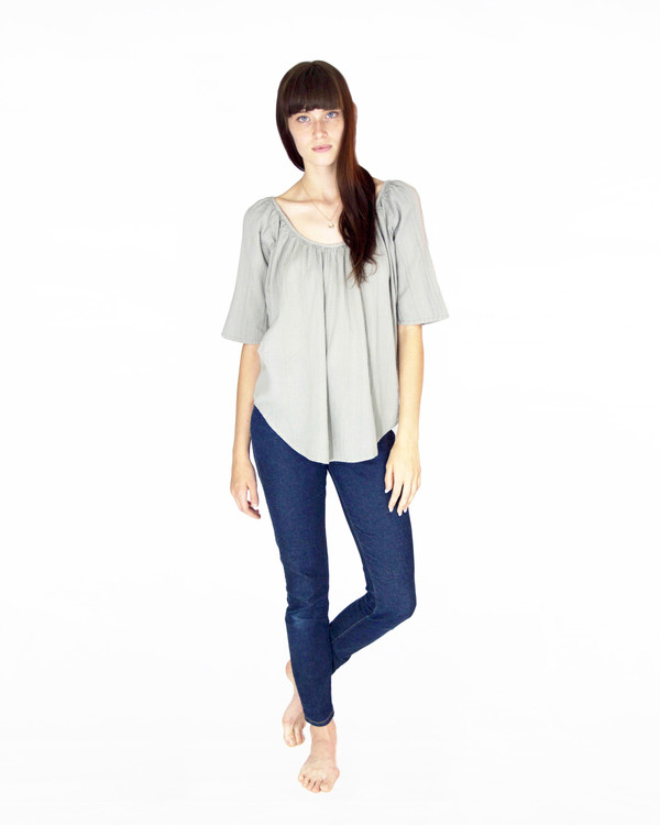 esby BEACH HOUSE REVERSIBLE TOP - MINERAL GREY