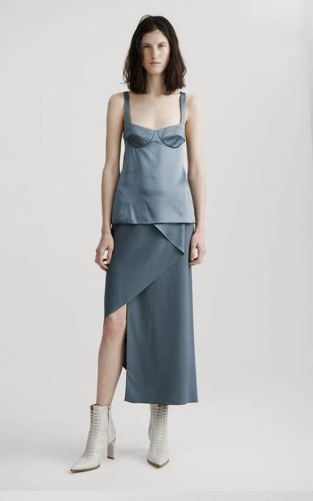 Dion Lee Layered Silk Top - Fortress