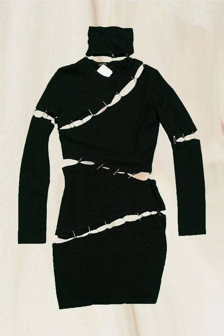 Vintage Safetypin Dress - black