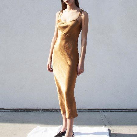 Georgia Alice Bow Dress  - Copper