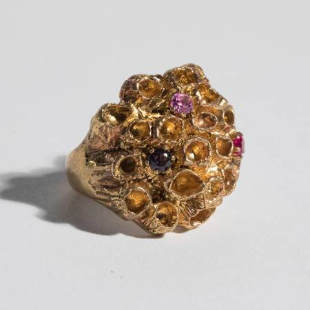Saint Claude Barnacle Ring with Stones