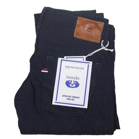 Tanuki Double Indigo Denim High Tapered Jeans