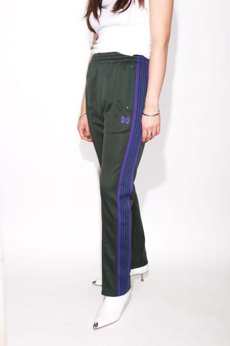 Unisex Needles Narrow Track Pants - Green/Purple
