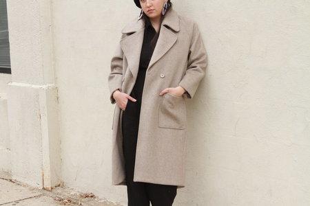 7115 by Szeki Classic Long Wool Coat