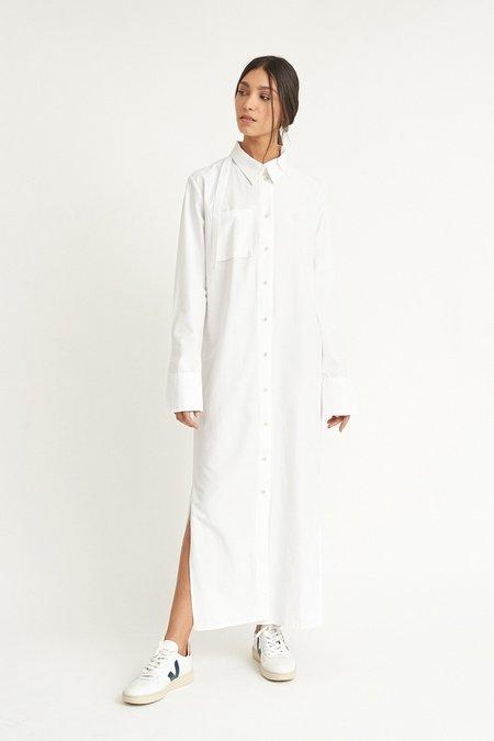 WYLDE Sophie Shirt Dress - White