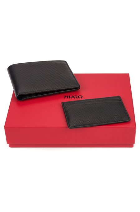 Hugo Wallet & Card Holder Box - Black