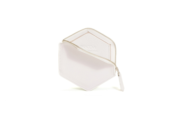 Nº21 Hexa Wallet in Platinum and White