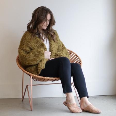 Hendrik.Lou Hand Knit Wool Cardigan - Ochre