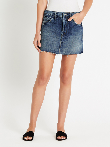 dd47a9aad ... Mother Denim The Vagabond Mini Fray Skirt - Lightning Strikes