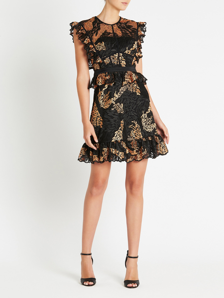 THREE FLOOR Love Fern Dress - Cantaloupe/Black