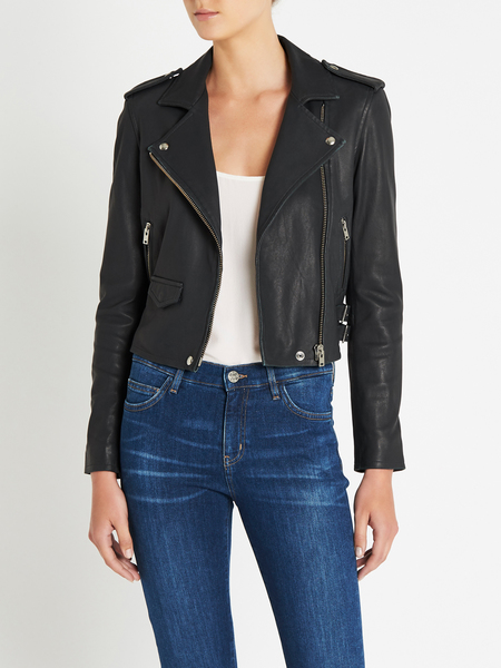 IRO Ashville Leather Jacket - GREY