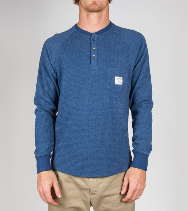 Iron and Resin Blue Paradigm Henley