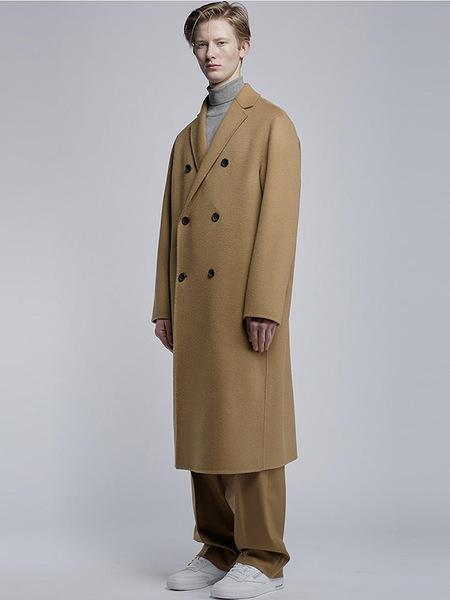 Etre Semi Over Double Handmade Coat - Beige