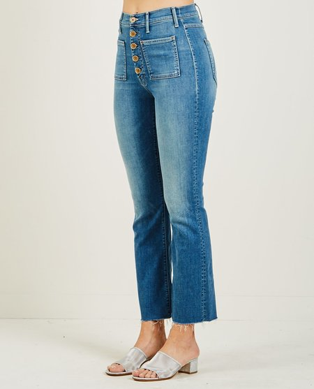Mother Denim PATCH POCKET HUSTLER ANKLE FRAY JEAN LOVE FOR SAIL - MEDIUM