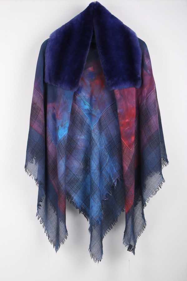 Richiami Icon Fur Stole Violet