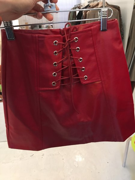 Dylan Vendor Leather Mini - Red