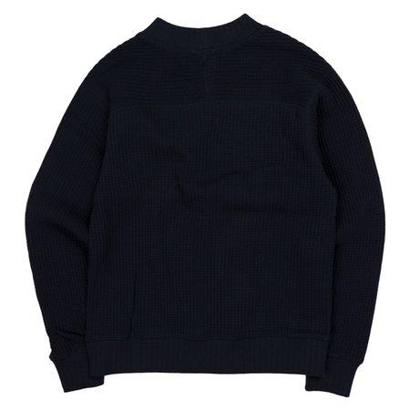 Jackman Waffle Midneck Jersey Sweater - Dark Navy
