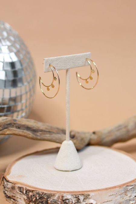 Zoe Chicco 14k Round Disc Double Hoop Earrings - Gold