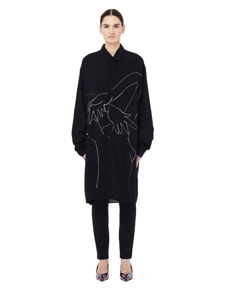 Yohji Yamamoto Printed Shirt - Black