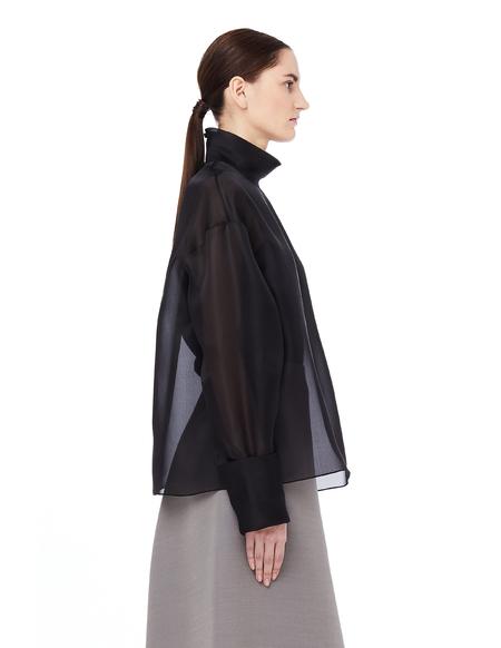 The Row Transparent Silk Karlee Top - Black