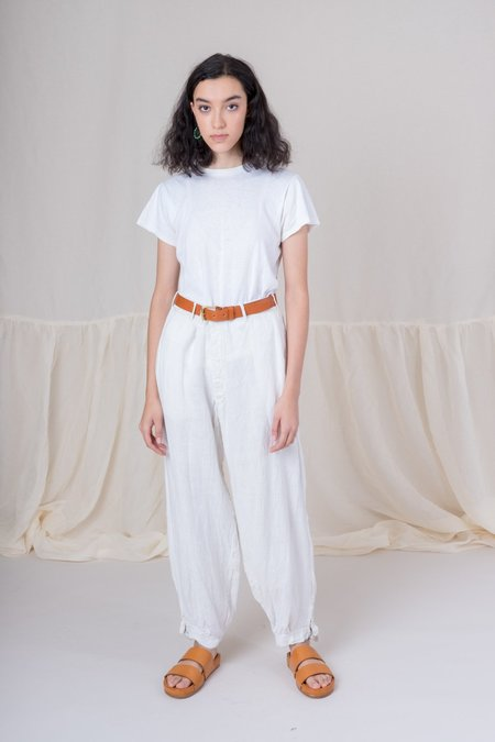 Shop Boswell Vintage Linen Pants - Cream