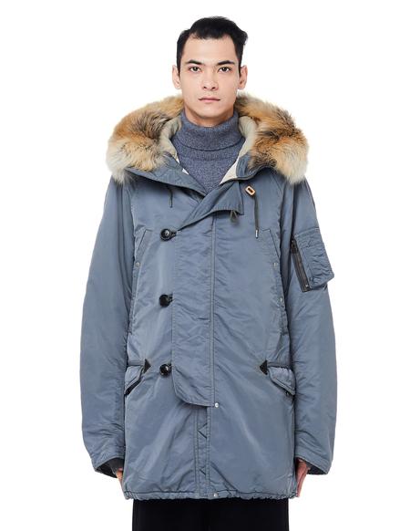 Visvim Valdez Fur Trimmed Parka - Grey