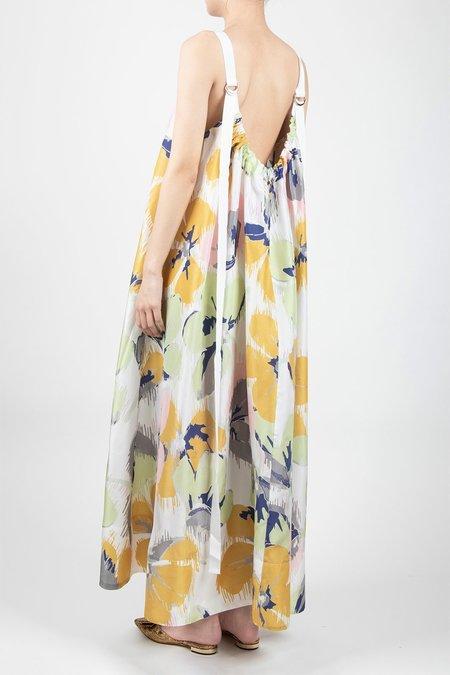 Lee Mathews Harper Silk Apron Dress - Marigold
