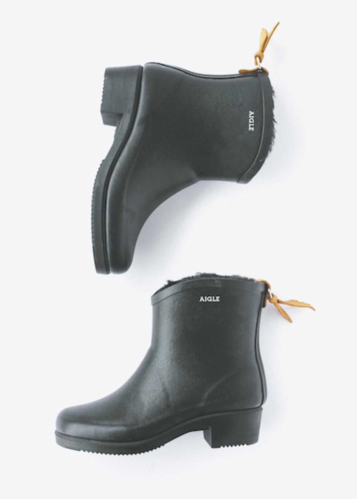 aigle miss juliette bottillon fur in noir | garmentory