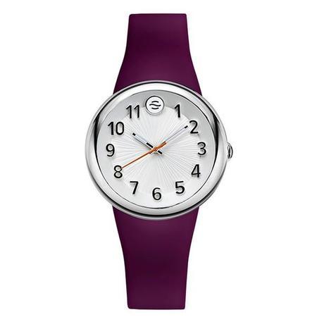 Unisex Philip Stein Fruitz Sport Watch with White Dial and Purple Strap