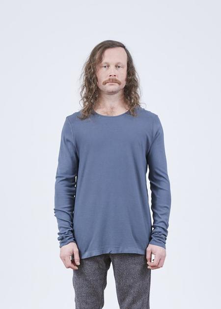 Hannes Roether Residency Yeko Long Sleeve Tee - Ice Blue