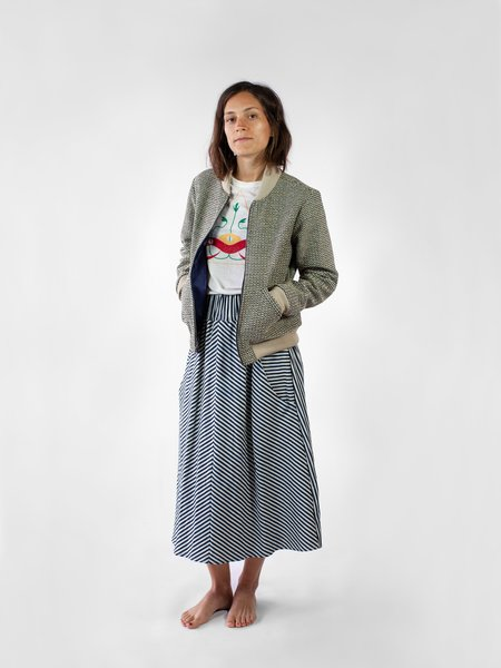 Nahanni Arntzen Long skirt - striped denim