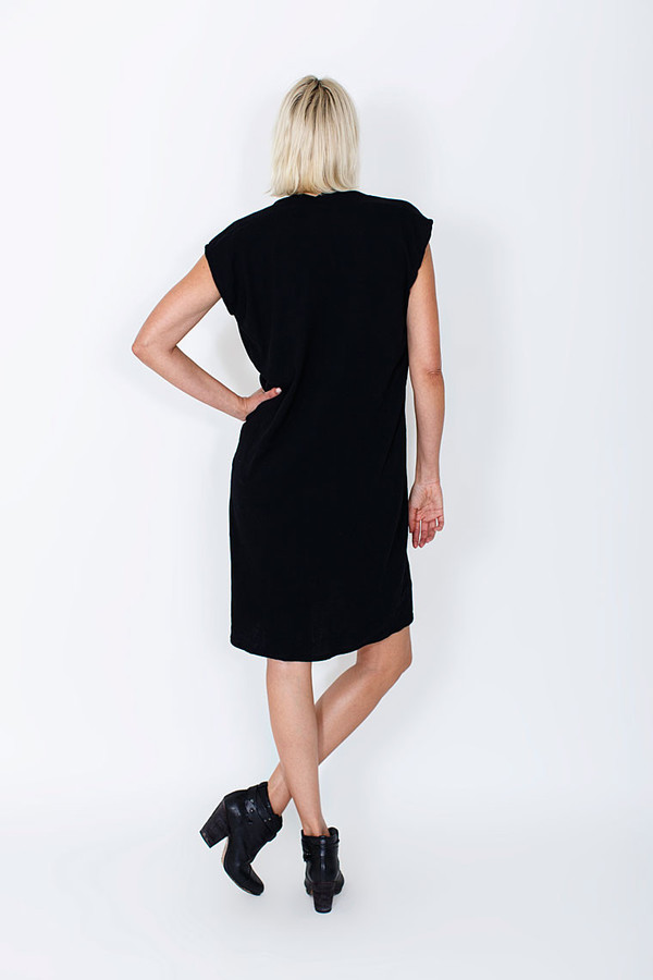 Miranda Bennett Black Everyday Dress, Silk
