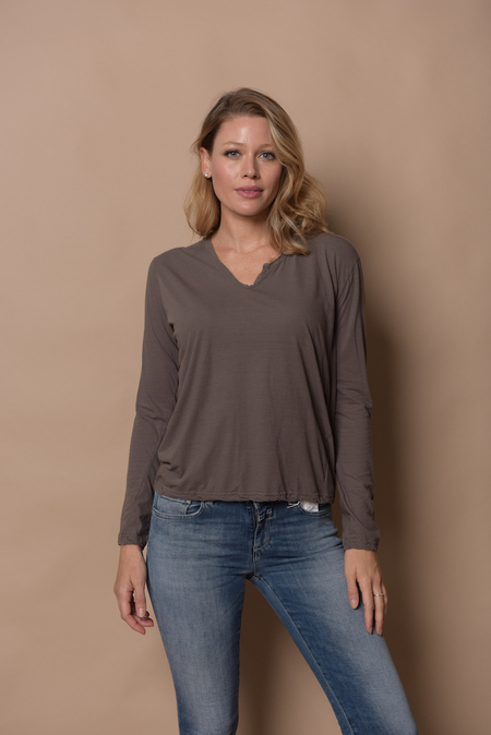 Private 0204 Long Sleeve Tee - Mocha