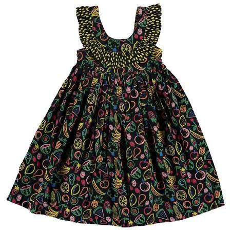 KIDS Stella McCartney Child Dress With Multicolour Fruit Print - Black