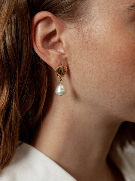 Wolf Circus Marcel Pearl Earrings - Gold