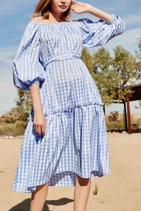 NIKA TANG Pauline Dress - Blue Gingham